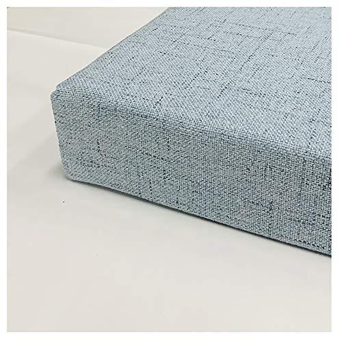 wangk Bankauflage Bankkissen Outdoor/Indoor Garten Innenhof Gepolstertes Bett Relax-Liegestuhl Gartenbank viele Größen zur Auswahl Grau blau-Graublau 200x35x5cm(79x14x2in)