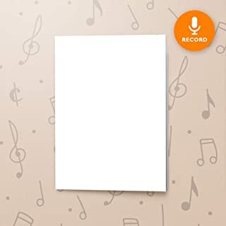 120s CARD 5x7 RECORDABLE chip sound music voice talking musical greeting