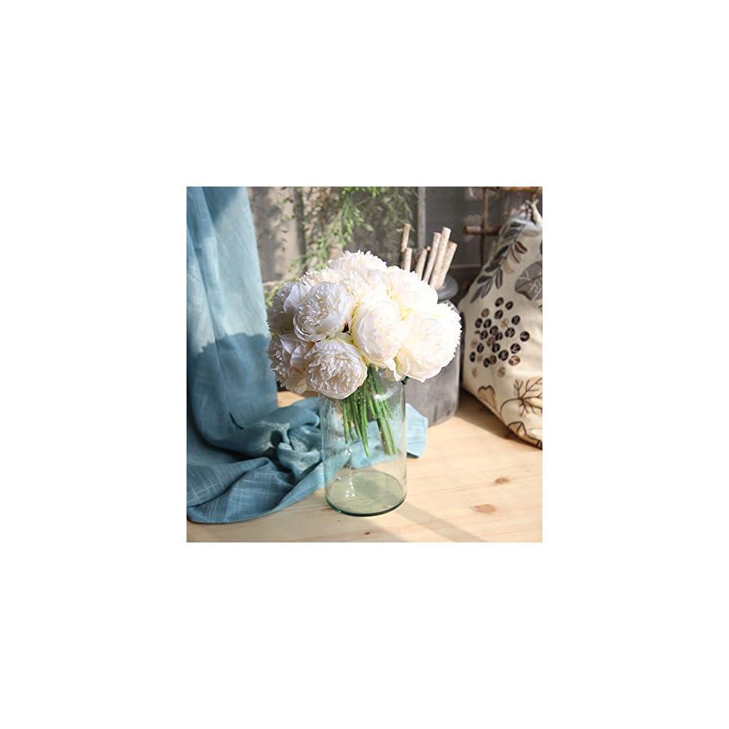Artificial Silk Fake Flowers Peony Floral Wedding Bouquet Bridal Hydrangea A
