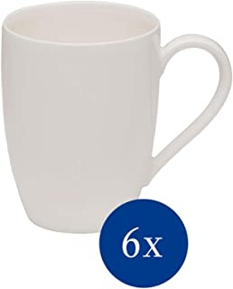 comprar comparacion vivo by Villeroy & Boch Group Basic White Taza de café, Set de 6 piezas, 300 ml, Porcelana Premium, Blanco