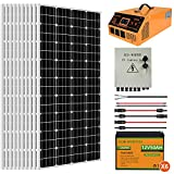 ECO-WORTHY 2000W 8KWH Solar Power System Off Grid Solar Panel Kit with Lithium Battery and All-in-one Solar Charger Inverter for Home House