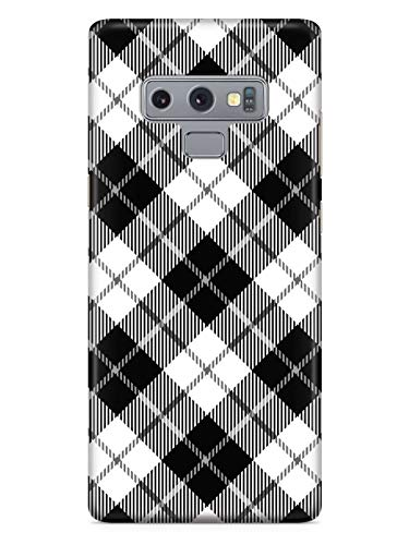 Inspired Cases - 3D Textured Galaxy Note 9 Case - Rubber Bumper Cover - Protective Phone Case for Samsung Galaxy Note 9 - Black and White Plaid