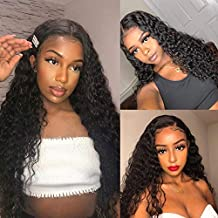 Water Wave Lace Front Wigs 26 inch Glueless Pre Plucked Natural with Baby Hair 100% Unprocessed Brazilian Virgin Human Hair Wig for Black Women