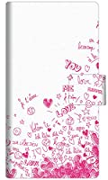 Y!mobile Xperia 10 III A102SO 手帳型 スマホ ケース カバー 631 恋の落書き 横開き UV印刷