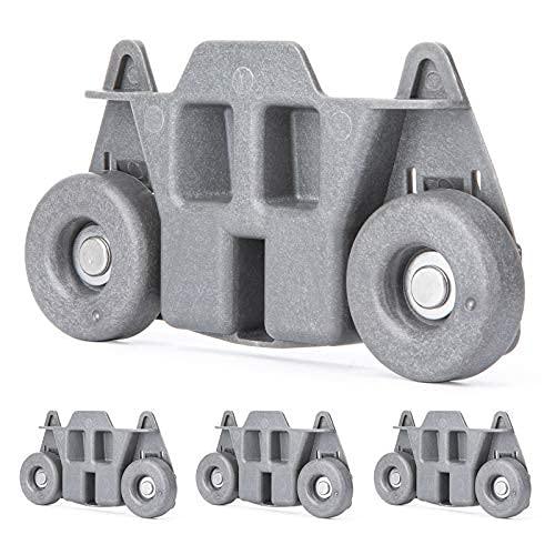 4 paquetes w10195416v w10195416 ruedas para lavavajillas estante inferior para platos, rodillo para lavavajillas resistente para cocina