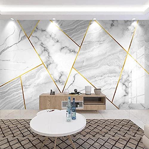 Cajgvavj Papier Peint Mural Auto-Adhésif Personnalisé 3D Jazz Marbre Blanc Géométrie Fresque Salon Tv Canapé Chambre Papel De Parede Autocollant 3D