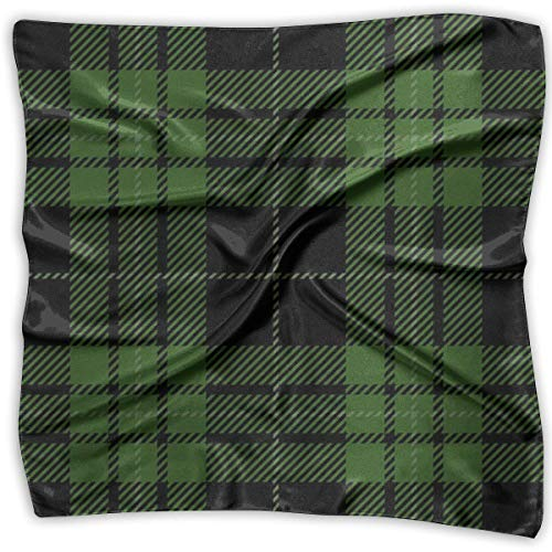 wu Schal Schwarzgrün Tartan Plaid schottisches Muster Square Scarf Wrap für Herren Damen