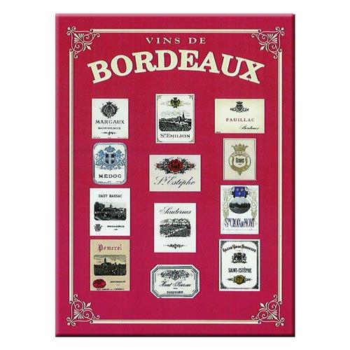 Souvenirs de France - Carte et Poster Métal Vins de Bordeaux (40 x 30cm)