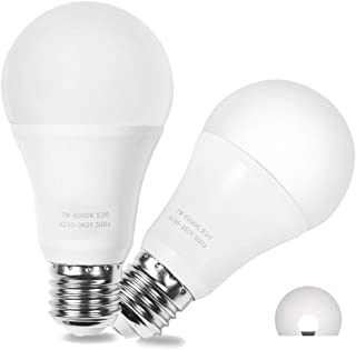 LED Dusk to Dawn Bulbs, AMAZING POWER A19 Frosted E26 Auto On/Off Light Bulb Outdoor, Daylight White 6000K 2-Pack