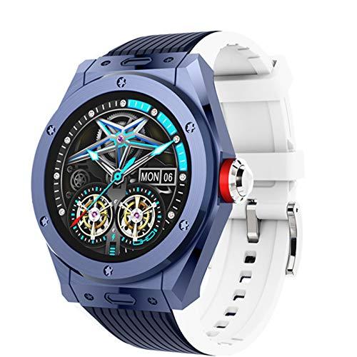 YWS 2021 Nuevo Reloj DE Smart MV58 Llamada A Bluetooth De Los Hombres Reloj Inteligente De Lujo Ratio Cardíaco para Hombres Presión Arterial Deportes Smart Watch Hombres para Android iOS,B