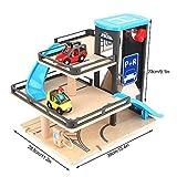 Juguete del aparcamiento, juguete inteligente inteligente de la pista del garaje del parque educativo del coche de las capas del coche de la aleación de madera de los niños tres