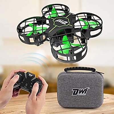 Dwi Dowellin Mini Drone for Kids Crash Proof One Key Take Off Landing Spin Flips RC Small Drones for Beginners Boys and Girls Nano Quadcopter Flying Toys
