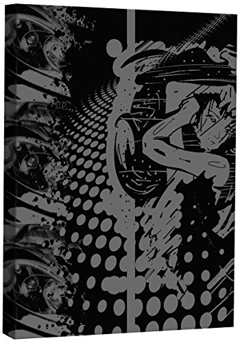 JP London CNV0048 Gallery Wrap Heavyweight Black and White Asian Anime Rock Tattoo Retro Canvas Art Wall Decor, 2' High x 1.5' Wide x 2' Thick