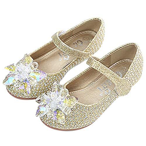 YOSICIL Zapatos de Lentejuelas para Nia Disfraz Princesa Elsa Frozen Zapatos de Tacn Bailarinas Flamenco Zapatos de Fiesta de Cumpleaos para Nios de 4 Aos 27-34 EU