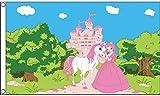 AZ FLAG Flagge Prinzessin-Pony-Schloss 150x90cm - Princess Pony Castle Fahne 90 x 150 cm - flaggen Top Qualität