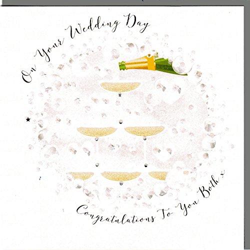 Wendy Jones-Blackett Glückwunschkarte zur Hochzeit veredelt mit Kristallen und Glitter. Eine sehr hochwertige und originelle Hochzeitskarte, auch für Geschenkgutschein oder Geldgeschenk. WP061