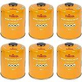 FUMOSA Gaskartuschen Set für Weber Q100/1000-Serien, Performer & Go Anywhere, Ventilkartusche je 450g Anzahl 6 Kartuschen