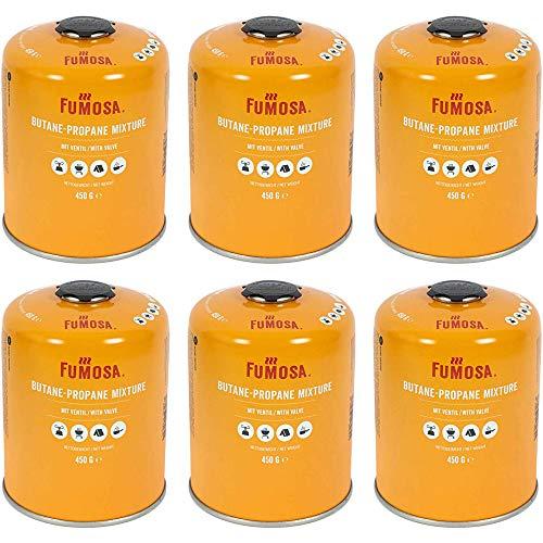 FUMOSA Gaskartuschen Set für Weber Q100/1000-Serien, Performer & Go Anywhere, Ventilkartusche je 450g Anzahl 6 Kartuschen…