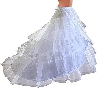 Women's Petticoats Mermaid Crinoline Half Slips Underskirt Hoop Skirt for Bridal Wedding Dress Ball Gown