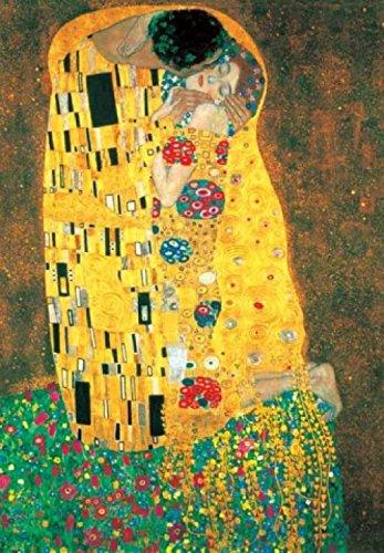 1art1 Gustav Klimt - Der Kuss, 1908 Poster Kunstdruck 80 x 60 cm