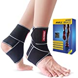 Ankle Brace, Husoo Breathable Ankle Support, Compression Ankle Wrap for Sports Protect, Ankle Sprain, Plantar Fasciitis, One Size Fits All