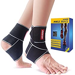 Navy Blue Husoo Compression Ankle Wraps for Sports Protection
