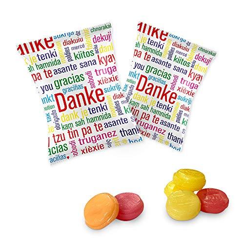 100 x Danke Bonbons im Flachbeutel á 10g entspricht 1KG