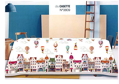 TAG HOUSE Tovaglia 6 posti cm 140x180 BOSSI 3809 Casette - Senza TOVAGLIOLI