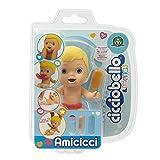 CICCIOBELLO - CC002B00 Cicciobello Amicicci tierno bebé Rubio con pañal Colorido, minifigura con Accesorios, Multicolor, CC002B00