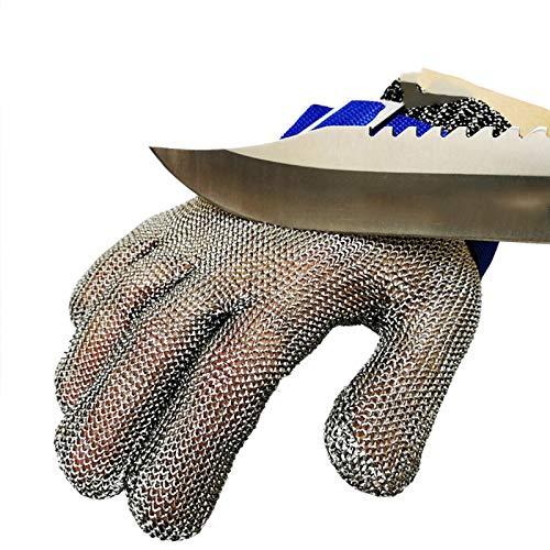 Schnittfeste Handschuhe-XHZ Gants résistants à l'usure en fil d'acier Anti-Coupure Unique, gants de Protection Pour Couper et abattre le Poisson (Size : Small)