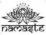 DDGE DMMS Wandaufkleber/Wandsticker, 42 x 25 cm, indischer Buddhismus/Totem / Lotus, Wandbild für Familienzimmer, Schlafzimmer, Dekoration, Büro, Geburtstagsgeschenk