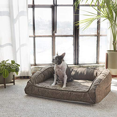 Brentwood Home Runyon Orthopedic Pet Bed, Puppy Dog Couch, Washable Cover, Waterproof Liner,...
