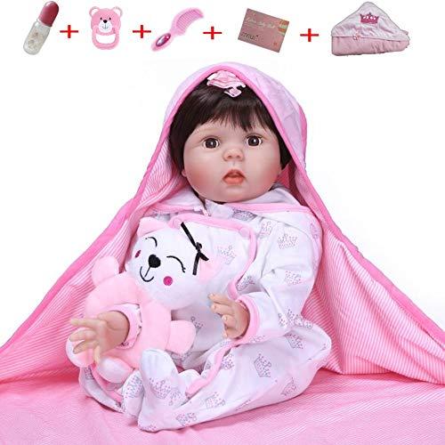 ZIYIUI Muñecos Bebé Reborn 22 Pulgadas 55cm Silicona Vinilo Lifelike Niña Suave Hechas a Mano bebé Regalo Newborn Muñecos Bebé Juguete