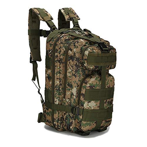 PULUSI Mochila táctica militar de 20 a 35 litros para asalto del ejército, mochila Molle Bug Out, mochila para senderismo al aire libre, camping, escalada (17 x 9.5 x 8.5 pulgadas