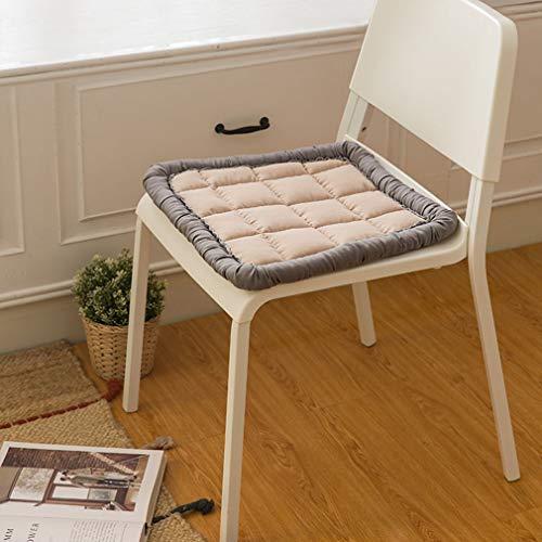 WZDD Stoel Pad Stoel Kussen, Kussens voor Keuken Stoelen Vierkant Niet Slip Zitkussens - 45X45Cm (18x18inch) - Wasbaar - voor Schommelstoelen, Eetstoelen of fauteuil