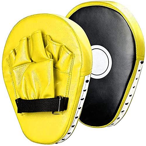 Ducomi Guantes de boxeo – Guantes de entrenamiento para hombre y mujer – Herramientas ideales para boxeo, boxeo, artes marciales, karate, Muay – 2 unidades (amarillo)
