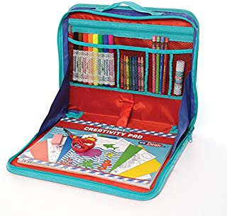 KITTRICH EZ02-ADT100-12 EZDesk Travel Activity Kit, Laptop Style Desk with Writing and Craft Accessories, MDL. #T100, 11.18