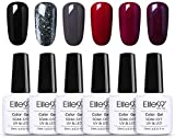 Elite99 Smalto Semipermanente per Unghie 6pzs Set di Smalti Gel gel Semipermanente Unghie Kit da UV LED Smalto per unghie Smalti Gel Polish per Unghie Soak Off Manicure,10ML ZH019