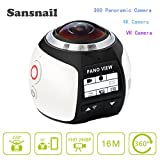 360 Action Camera V1 3K Sansnail Wifi Mini Panoramic Camera 220 Wide Angle Panoramic Camera 4K 30fps VR 5MP HDMI Action Sports Cam DV Player