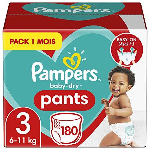 Oferta de 180 Pañales Pampers Baby Dry Pants talla 3