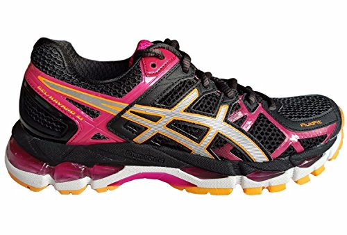 ASICS Gel Kayano 21 (2A-Narrow fit) T4J5N 9091 Women's Running Trainers Black/Raspberry, UK 4/ EU 37