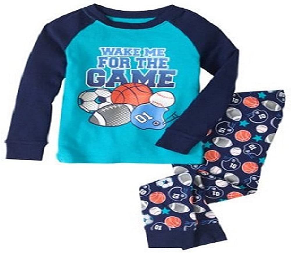Toddler Boys Graphic Wake Me For The Game 2pc Sleep Set (3T)