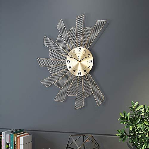 DKee Reloj de Pared Decoración Creativa de la Sala de Estar Relojes Inicio Arte de la Pared Reloj de Pared Moderno Minimalista Restaurante Nordic Reloj 47 * 60 (cm)