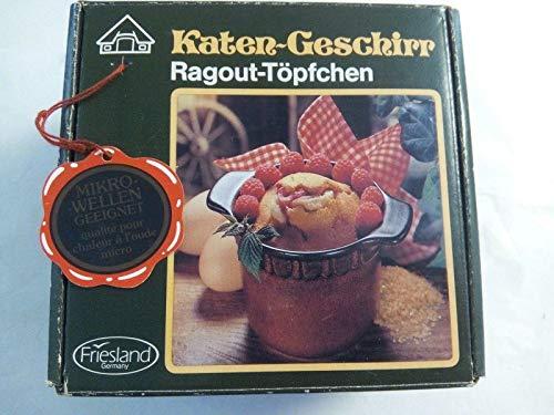Friesland Porzellan Katen-Geschirr Ragout-Töpfchen, Backofenfest, Mikrowellengeeignet