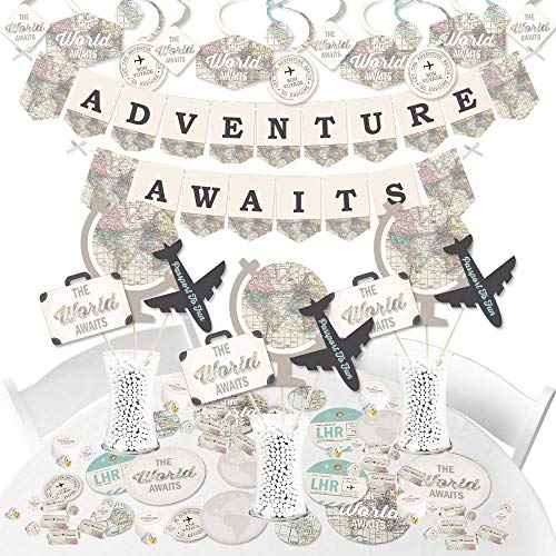 Adventure Awaits Travel Themed Retirement Party Supplies