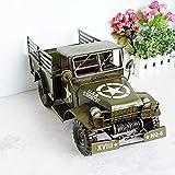 XIAOXX Estuche para Tarjeta de Visita Coleccionable Vehículo Militar Todoterreno Antiguo Decoración del hogar