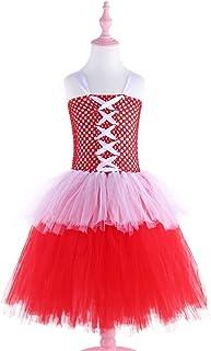 Beautiful Dance Skirt Little Red Riding Hooded Girl Kids Handmade Gauze Princess Dress Performance Costume Fashion (Color : Red, Size : 140)