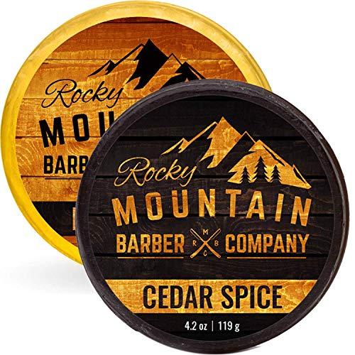 Savon pour Homme 100% Naturel Épice de Cèdre et Birchwood Rocky Mountain Barber Company - 0