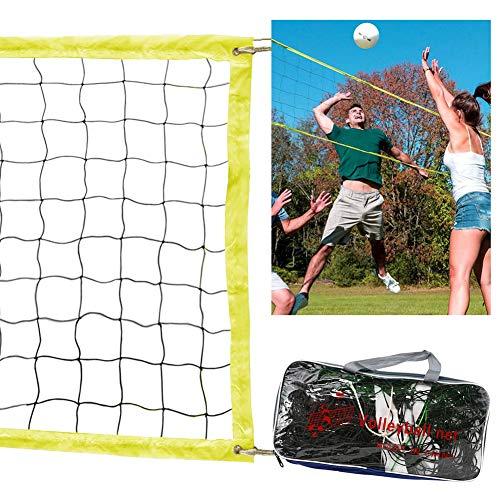 1PC Professional Volleyballnetz mit Aufbewahrungstasche Ersatz Faltbares Badminton Tennis Volleyballnetz für Outdoor- oder Indoor-Sport Hinterhof Schulhof Pool Beach