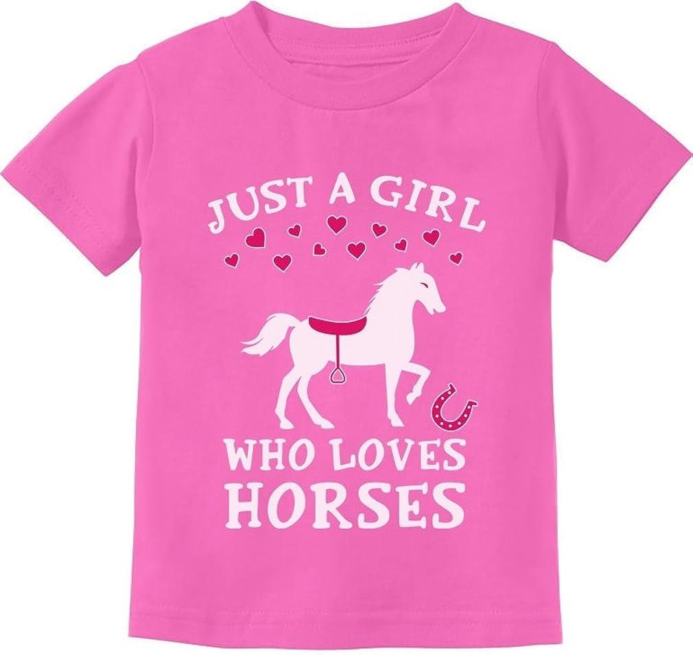 Tstars - Just A Girl Who Loves Horses Horse Lover Gift Toddler Kids T-Shirt